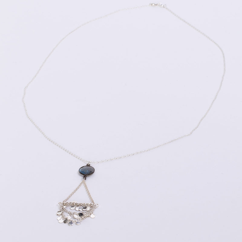 Amanda Jordyn Designs Labradorite Sterling Silver Necklace