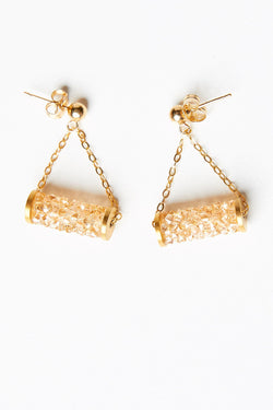 Earrings with Swarovski Crystal Tubes