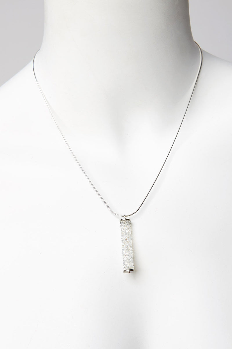 Necklace with Swarovksi Crystal Tube Pendant