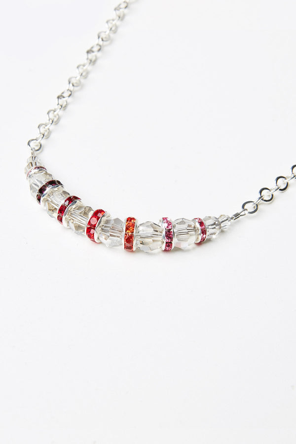 Shübx Designs Ombre Necklace with Swarovski Crystal Beads