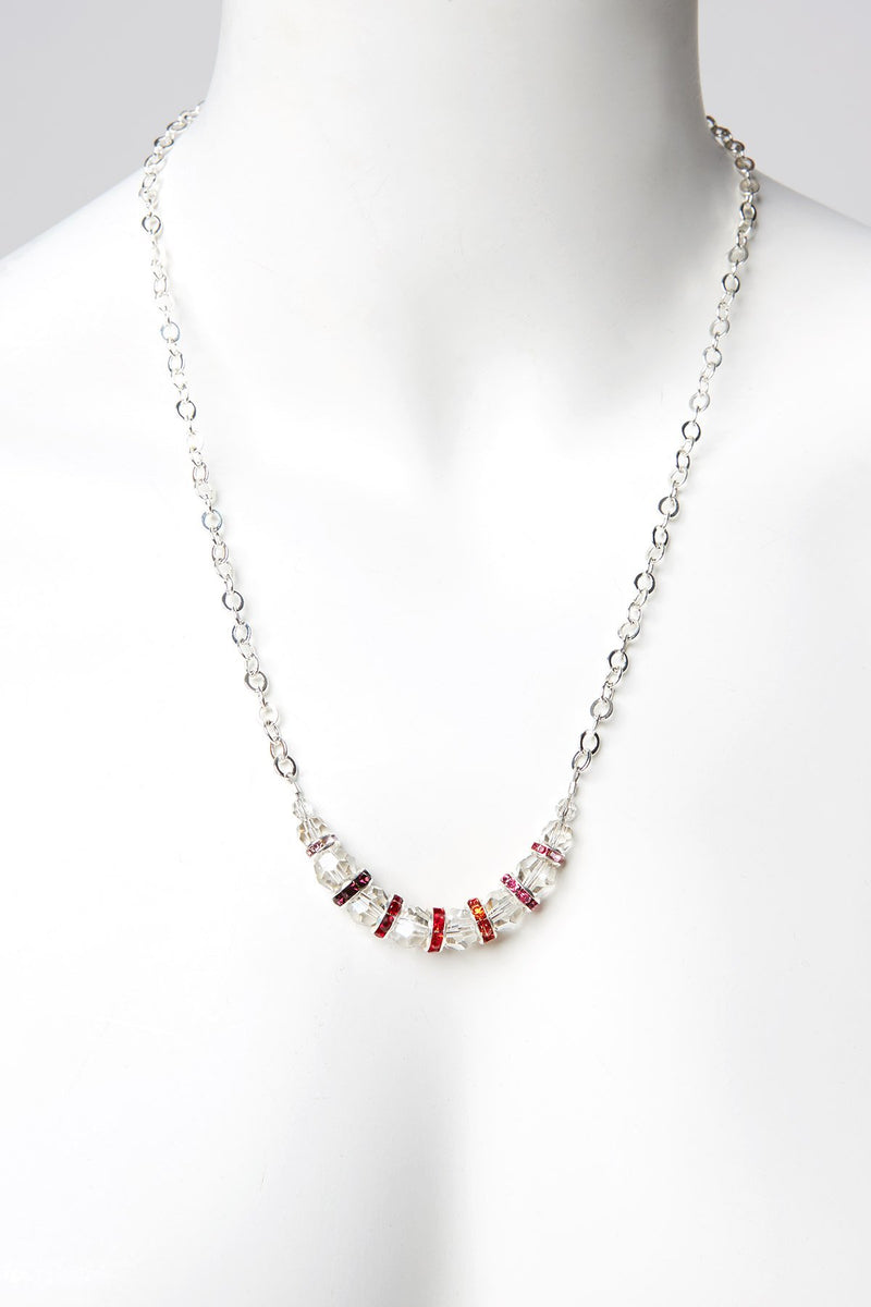 Ombre Necklace with Swarovski Crystal Beads
