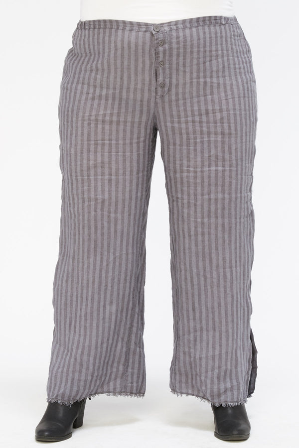 XCVI Plus The Striped Trouser