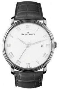 Blancpain Villeret Automatic Men's Watch, Stainless Steel, White Dial, 6651-1127-55B