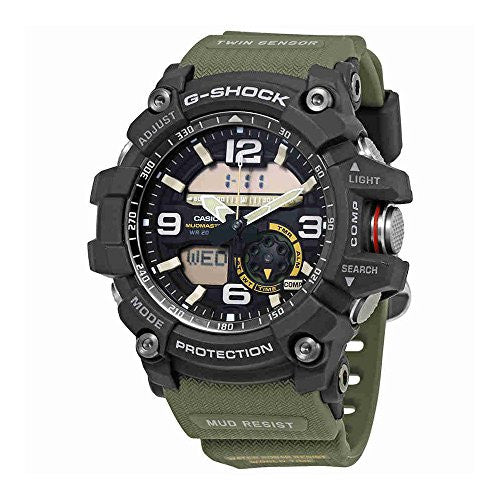 Casio Men's 'G SHOCK' Quartz Resin and Stainless Steel Casual Watch, Color:Green (Model: GG-1000-1A3CR)