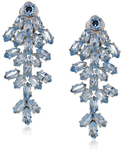 CZ by Kenneth Jay Lane 22cttw Cluster Leaf Clip-On Earrings, 2 CTTW