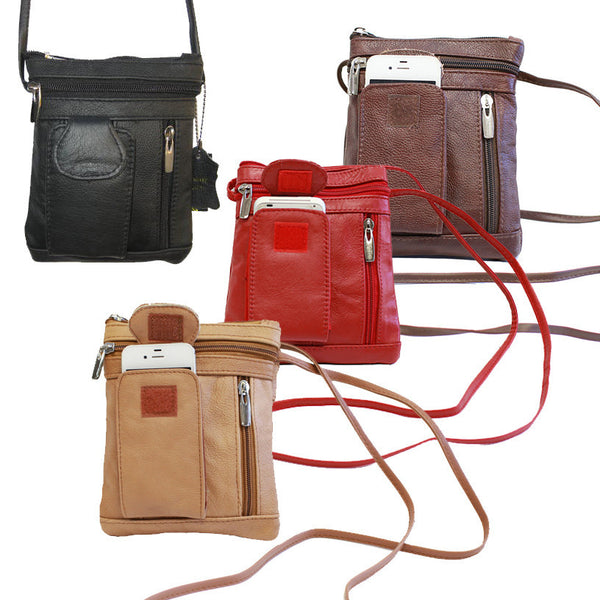 Unisex Genuine Leather On-the-Go Cross-Body [CAM-CB-F320CH]  Price:  $ 49.50 RETAIL