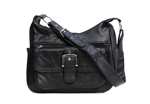 Fashion Front Buckle Leather Bag [CA-H-W088] - N & R Products