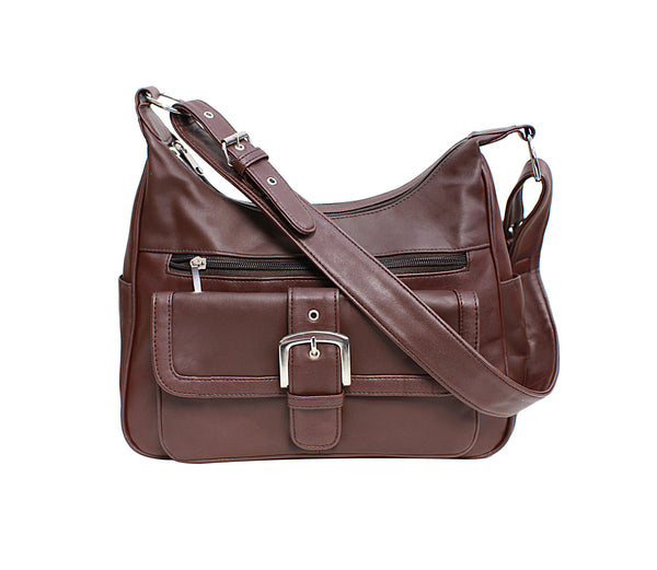 Fashion Front Buckle Leather Bag [CA-H-W088]