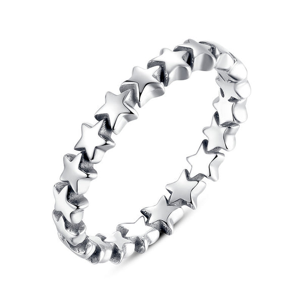 100% Authentic 925 Sterling Silver 6 Style Stackable Party Rings For Women Compatible with Original WOS Jewelry Fine Gift