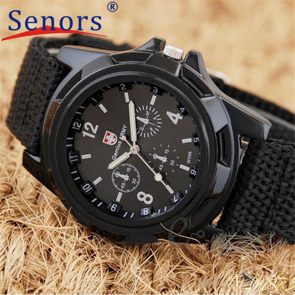 Creative Fashion Style Watch Army Racing Force Military Sport Men Officer Watch Fabric Band Quartz Watch,relogio masculino