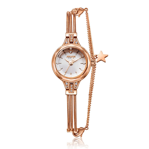 New top selling women best quality full steel Elegant watches Ladies fashion casual quartz watch Original Julius 918 hour clock