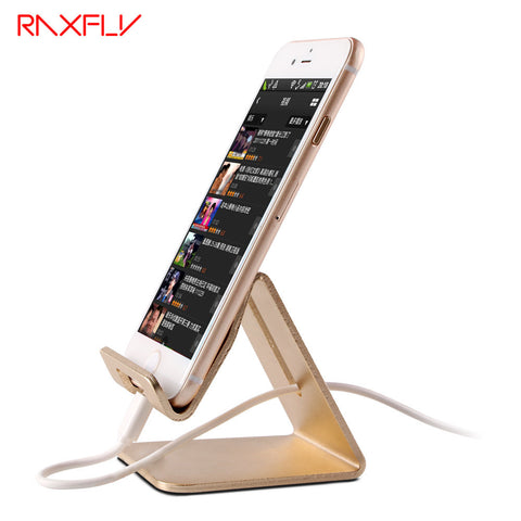 RAXFLY Universal Aluminum Metal Phone Stand Holder For iPhone 6 7 Plus Samsung S8 Tablet Desk Phone Holder Stand For Smart Watch