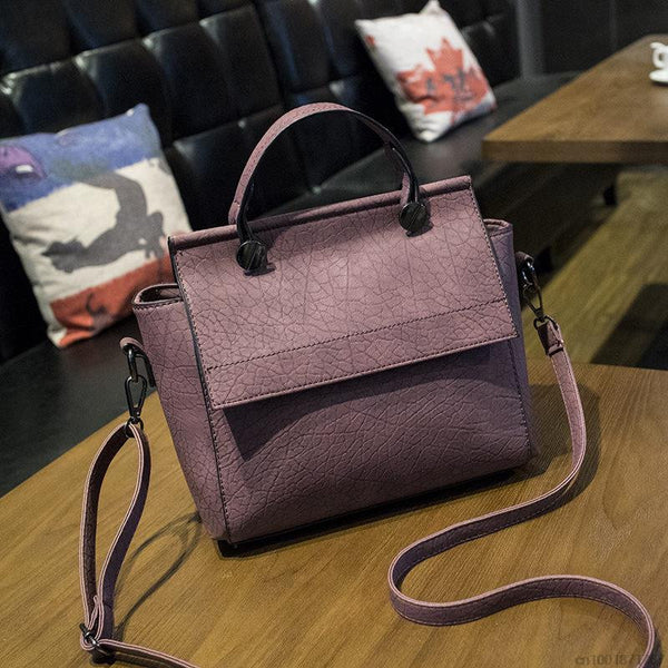New Arrival Vintage Trapeze  Tote Women Leather Handbags Ladies Party Shoulder Bags Fashion Top-Handle Bags