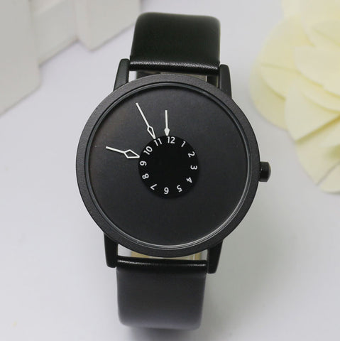 Leather Watch Women dress watches hour clock men fashion Casual watch Unisex Quartz watch relogio relojes W0706