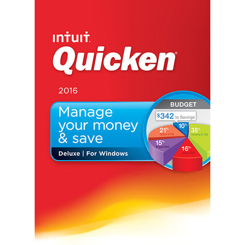 Intuit Quicken 2016 Deluxe - Financial Management - PC