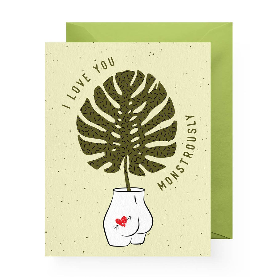 Monstera Love Card