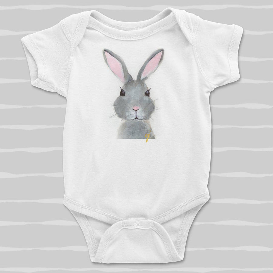 Bunny Animal Baby Clothing Onesie (Unisex) - PERSUCOLLECTION functional men and women's duffle bag, gym bag, travel bag all-in-one! The only washable interior gym bag.