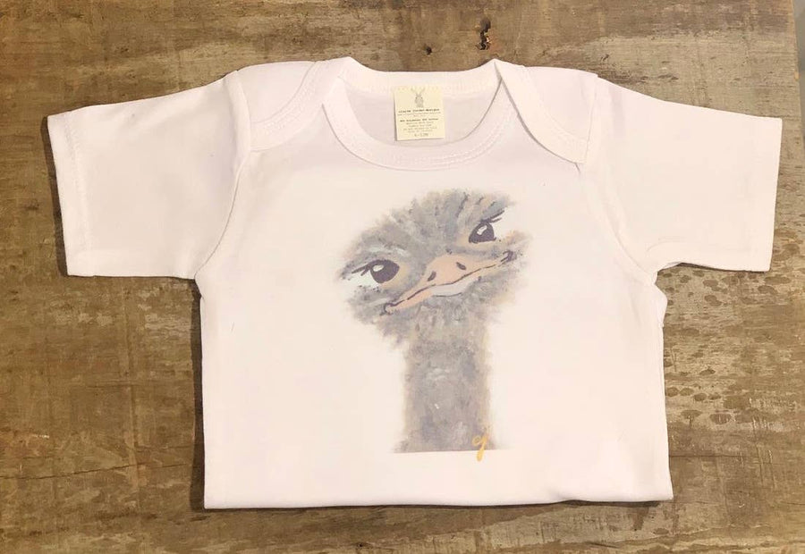 Emu Animal Baby Clothing Onesie (Unisex) - PERSUCOLLECTION functional men and women's duffle bag, gym bag, travel bag all-in-one! The only washable interior gym bag.