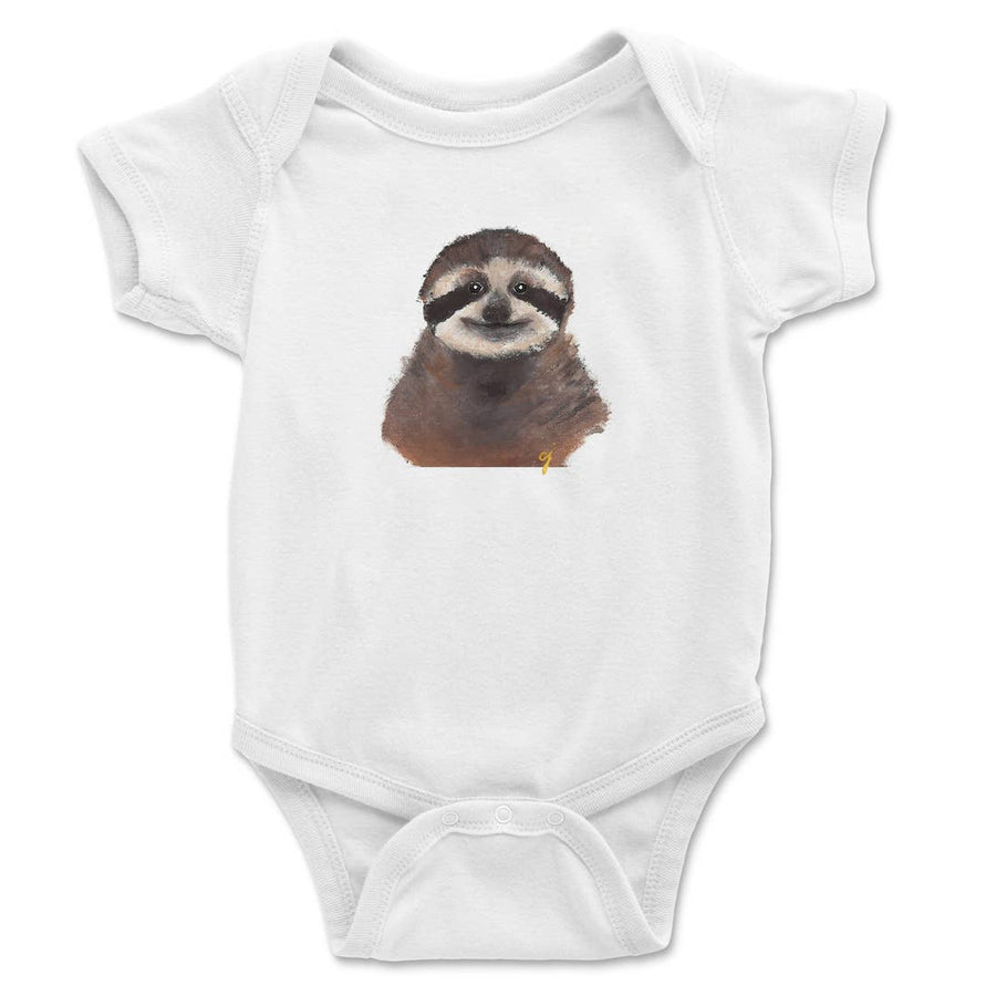 Sloth Animal Baby Clothing Onesie (Unisex) - PERSUCOLLECTION functional men and women's duffle bag, gym bag, travel bag all-in-one! The only washable interior gym bag.