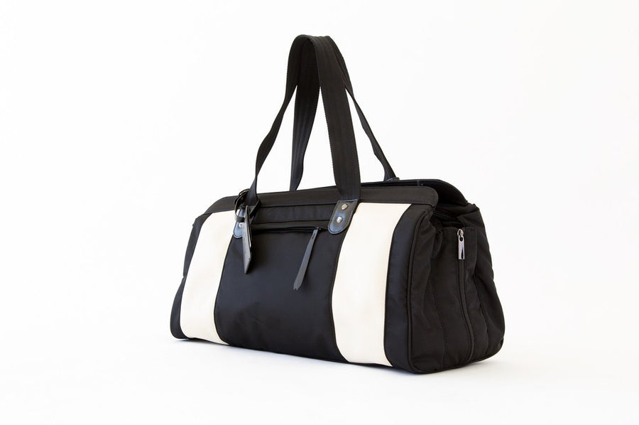THE JESSICA BAG - PERSUCOLLECTION functional men and women's duffle bag, gym bag, travel bag all-in-one! The only washable interior gym bag.