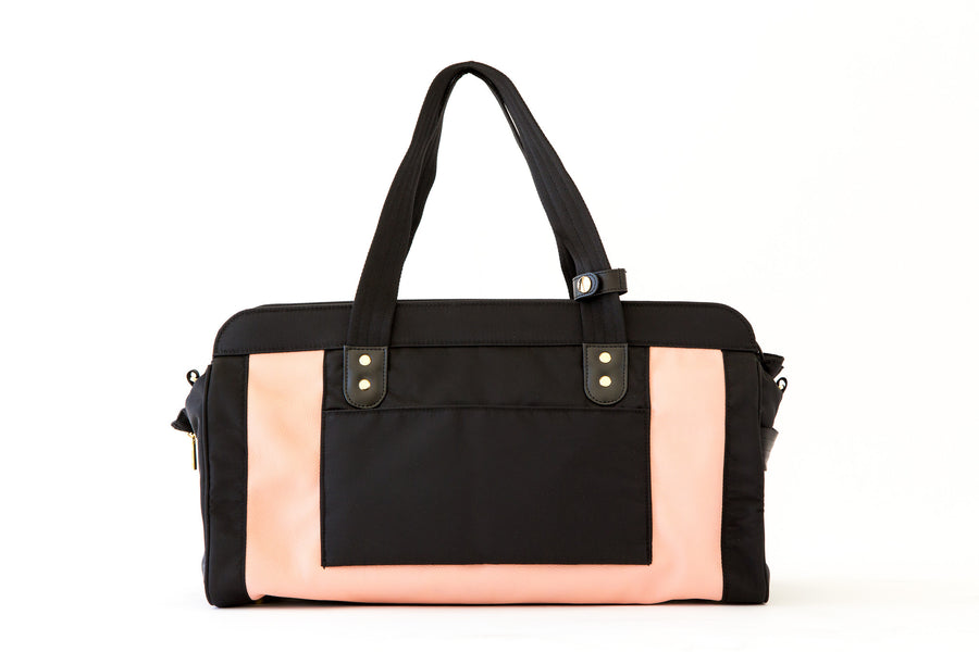 THE JESSICA BAG | BLUSH PINK - PERSUCOLLECTION functional men and women's duffle bag, gym bag, travel bag all-in-one! The only washable interior gym bag.