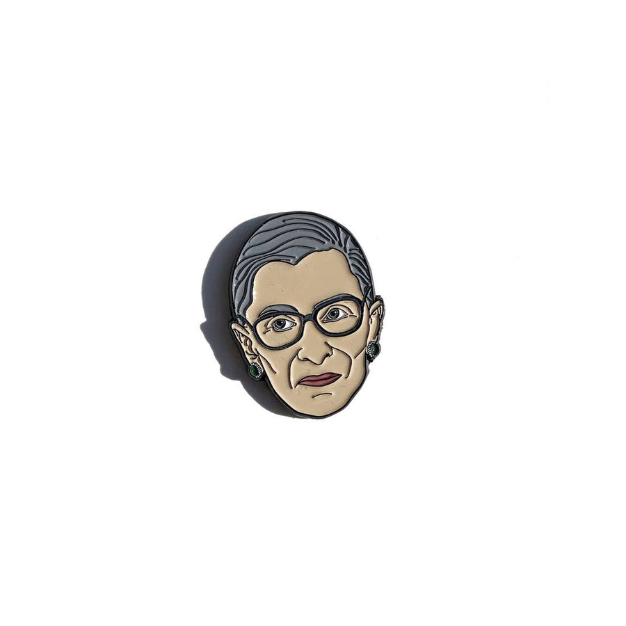 Ruth Bader Ginsburg Enamel Pin - PERSUCOLLECTION functional men and women's duffle bag, gym bag, travel bag all-in-one! The only washable interior gym bag.