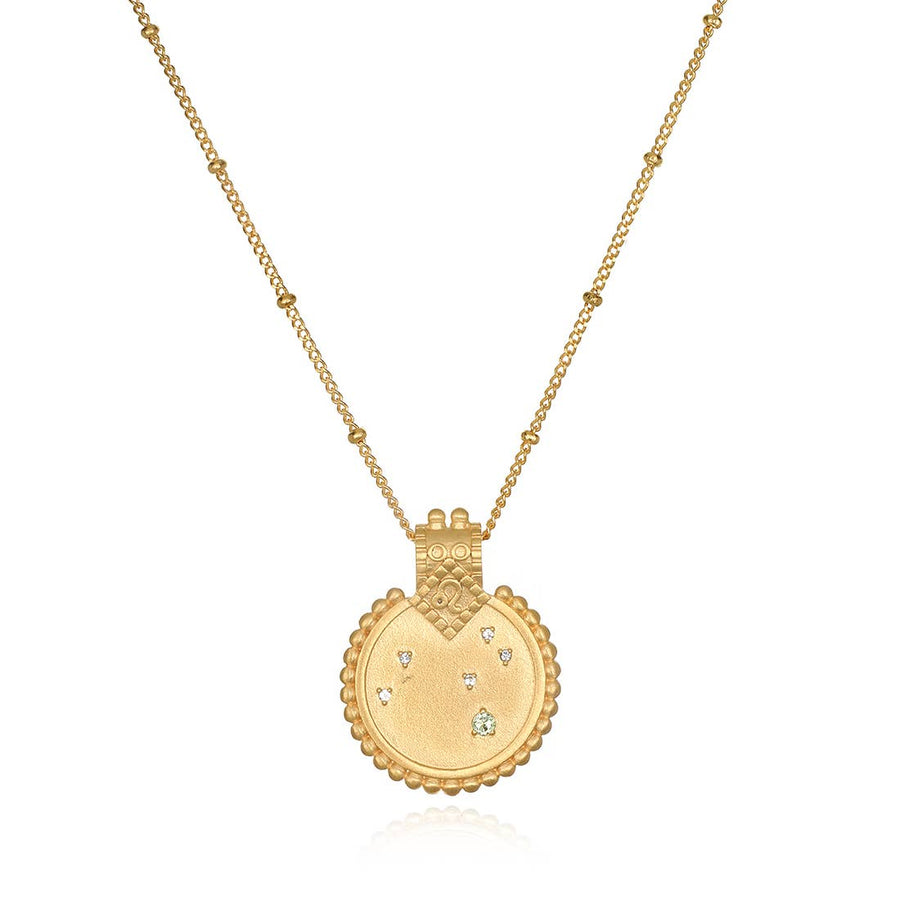 Mandala Zodiac Constellation Necklace 18-inch - PERSU COLLECTION