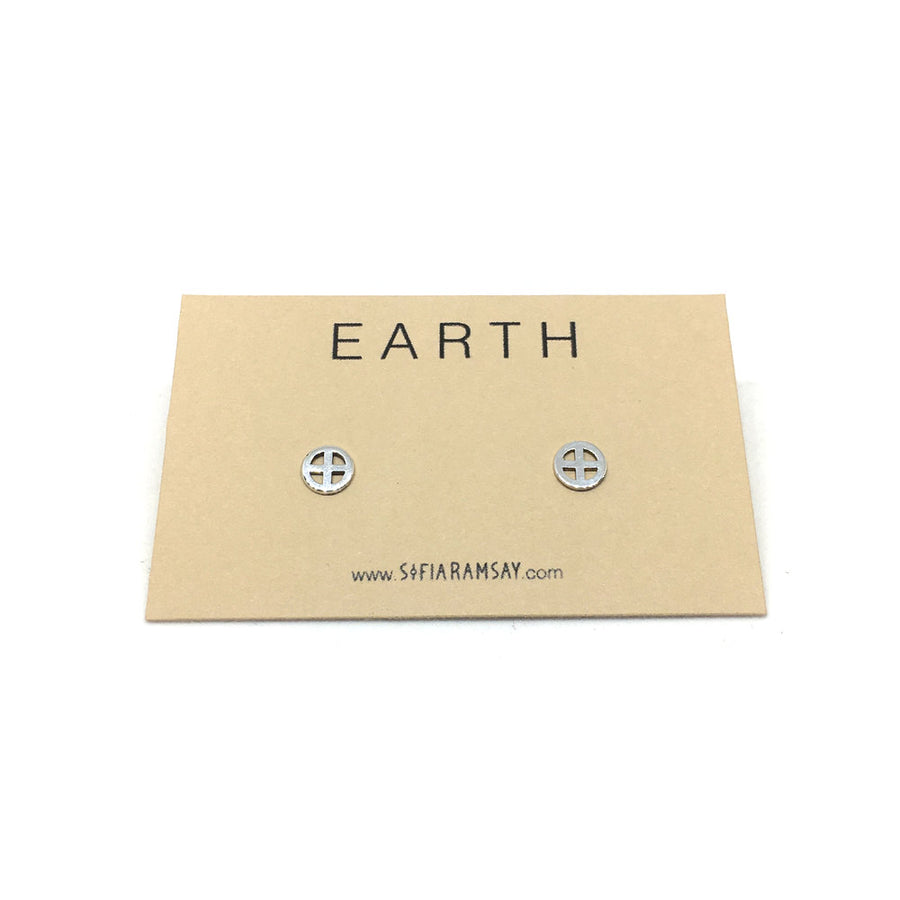 Sterling Silver Planet Studs - PERSU COLLECTION