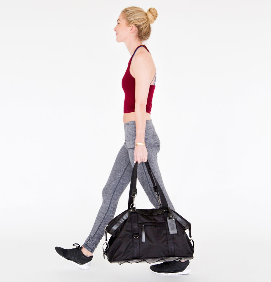 THE TOM BAG - PERSUCOLLECTION functional men and women's duffle bag, gym bag, travel bag all-in-one! The only washable interior gym bag.