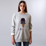 Cream Appliqué Sweatshirt