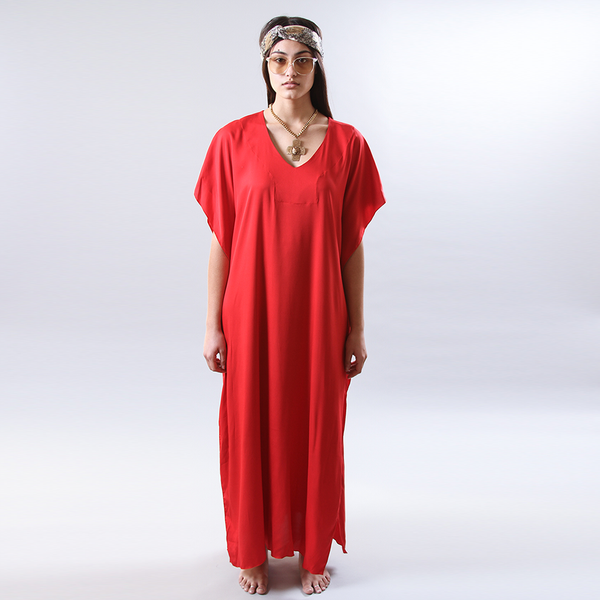 The Classic Kaftan in Red