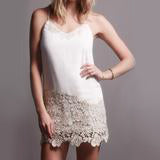 Carol Gold Lace Dress