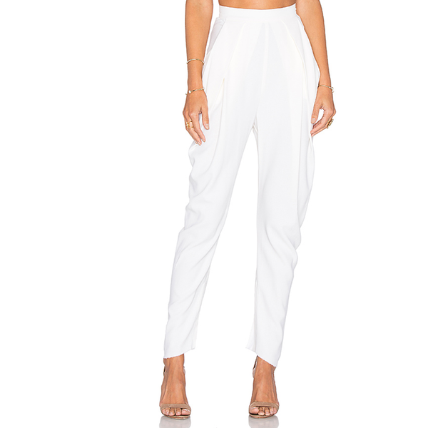 Draped Ivory Trouser