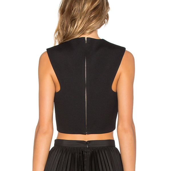 Vegan Leather Crop Top