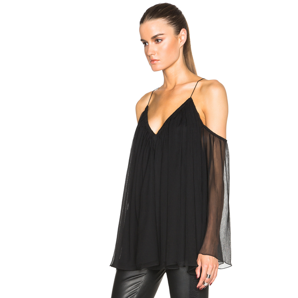 Black Draped Top