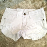 White Denim Cut Offs Shorts