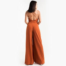 Dark Orange Jumpsuit