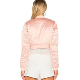 Pink Bomber Crop Jacket