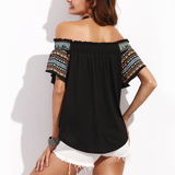 Off the shoulder asymmetrical blouse