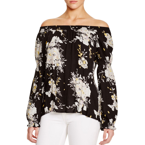 Rizzo floral off the shoulder blouse