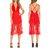 Red falling in love dress