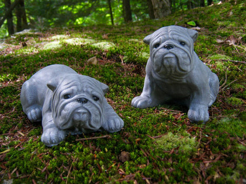Bulldog Garden Decor   Painted Dog Garden Statues
