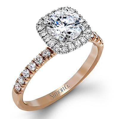 18 Karat Rose Gold, White Gold Accent Canadian Diamond Engagement Ring