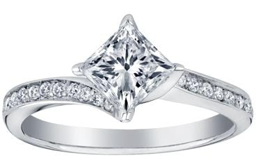 14 Karat White Gold Canadian Diamond Engagement Ring