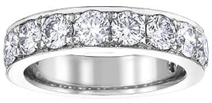 10 Karat White Gold Diamond Anniversary Ring