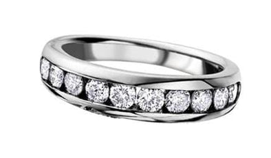 14 Karat White Gold Diamond Anniversary Ring