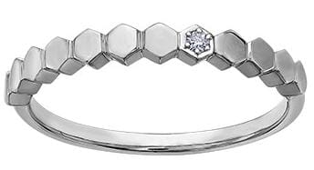 10 Karat White Gold Diamond Band