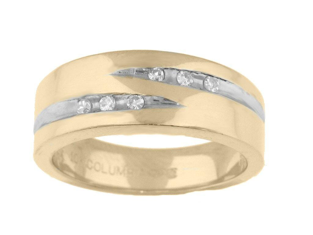 10 Karat Yellow Gold Diamond Wedding Band