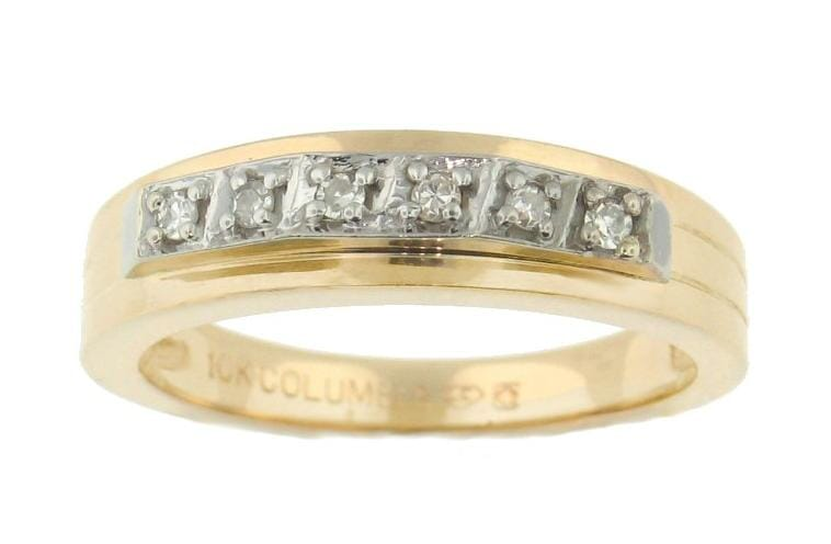 10 Karat Yellow Gold Diamond Wedding Ring