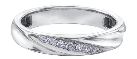 10 Karat White Gold Diamond Wedding Ring
